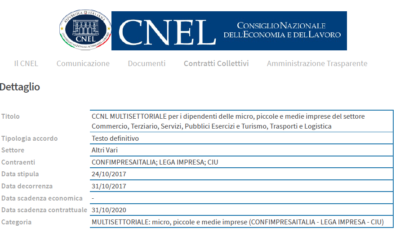C.N.E.L. PUBBLICA C.C.N.L. DI CONFIMPRESAITALIA