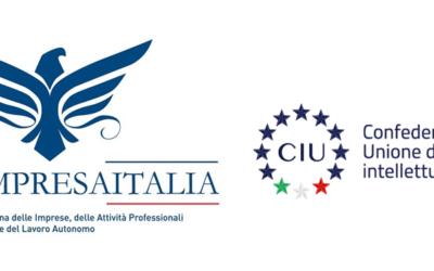 CONFIMPRESAITALIA ADERISCE ALLA CIU (CONFEDERAZIONE ITALIANA DI UNIONE DELLE PROFESSIONI INTELLETTUALI)