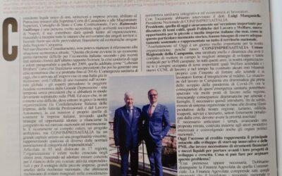 """Sul settimanale """"Panorama"""" un' intera pagina dedicata a CONFIMPRESAITALIA"""